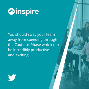 You should sway your team away from speeding through the #CautiousPhase which can be incredibly #productive and exciting.