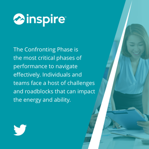The Confronting Phase is the most critical phases of performance to navigate effectively. Individuals and teams face a host of challenges and roadblocks that can impact the energy and ability.